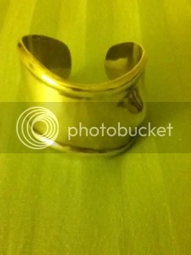 Silver bone cuff bracelet
