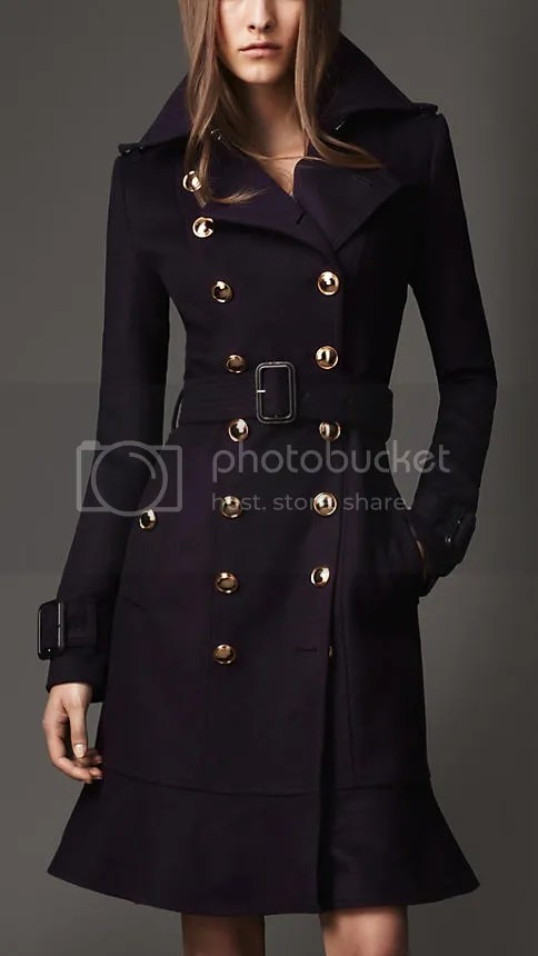 Long Frill Detail Trench Coat