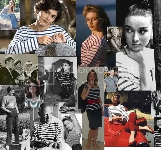 Breton sailor shirt collage