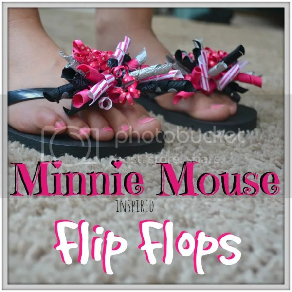 Minnie Mouse Flip Flops Tutorial to get the kids pumped for Disney!