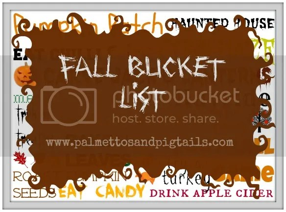 Fall Bucket List Free Printable from Palmettos and Pigtails