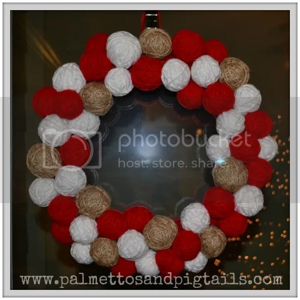 DIY Yarn Ball Wreath Tutorial