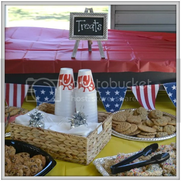 Chick-fil-a donated goodies and lemonade for this adorable Little Free Library unveiling party!