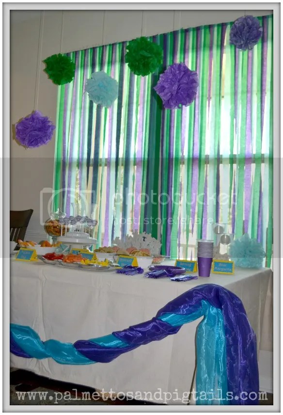 Decor at our #TheLittleMermaid birthday party #shop #cbias #DisneyPrincessPlay