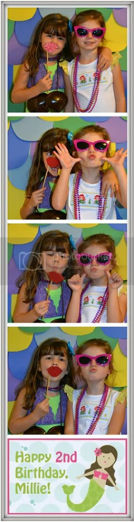 Photo Booth at our #TheLittleMermaid birthday party #shop #cbias #DisneyPrincessPlay