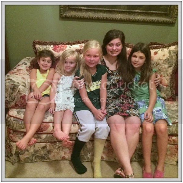 The girl cousins pose before the wedding in Atlanta!