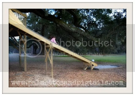 Slide at the Neighborhood Treehouse by Palmettos and Pigtails