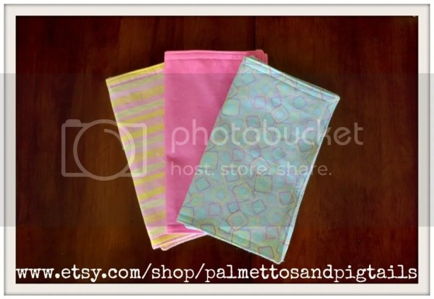 Burpcloths by Palmettos and Pigtails being sold at McAdoodle Consignment