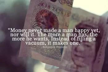 Happiness, Money Quotes