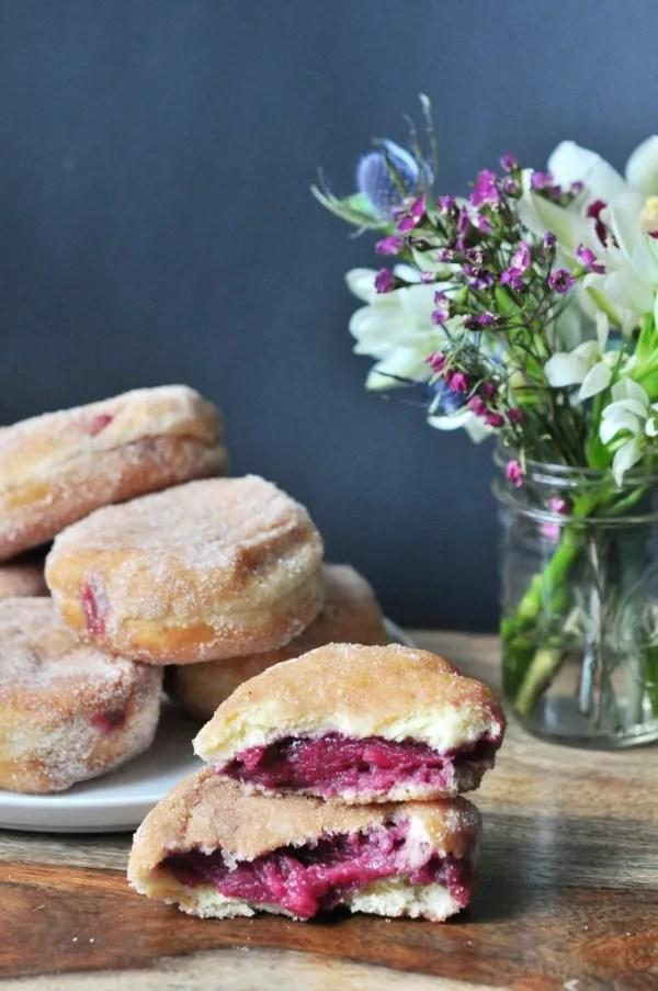 Blackberry Preserve Doughnuts
