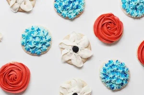 butter flower cookies