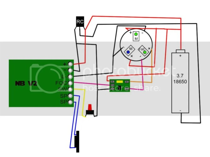 diagram for wiring a nbv2 with a recharge port and accent led