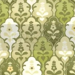 Hunky Dory Groovy Green Mosaic by Chez Moi, Moda Fabric