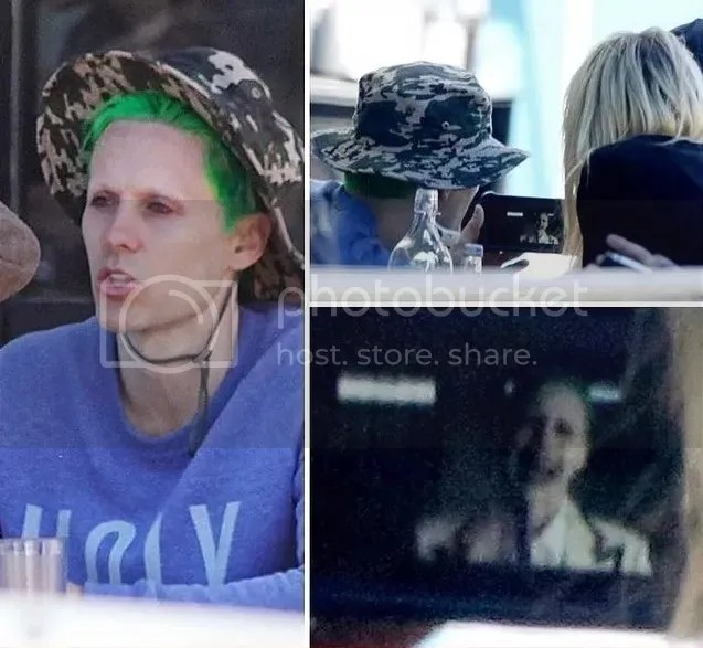 Behind-the-scenes photos giving a glimpse of Jared Leto as the Joker.