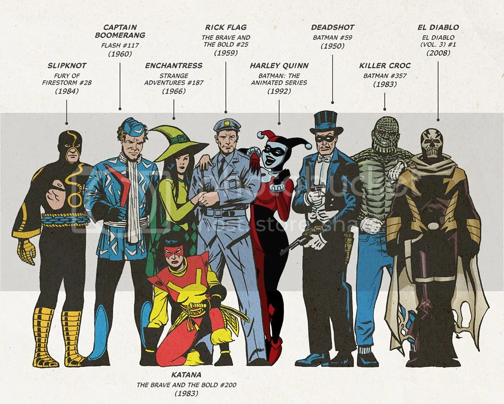 Check out the first comic book appearances of characters from David Ayer's Suicide Squad.