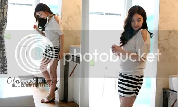 AhaIshopping: Waist Ladies Short-Sleeved Strapless Dress
