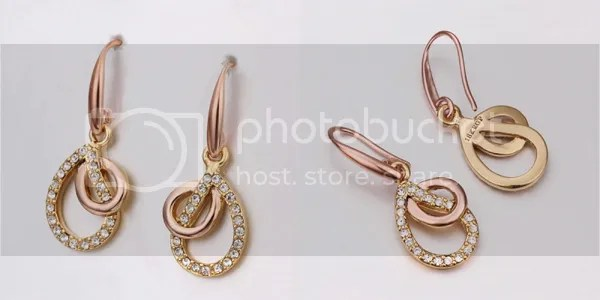 Bellast: Your Online Jewelry Shopping Destination: Quality Rhinestone Crystal Hollow Stacked Waterdrop Pierced Earrings with 18K Gold Plated Tin Alloy Rose Gold