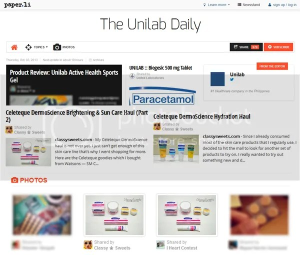 Press: Featured at The Unilab Daily | Website