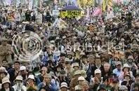 Tüntetés atomerőművek ellen