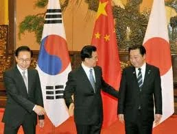 Japán, Kína és Dél-Korea