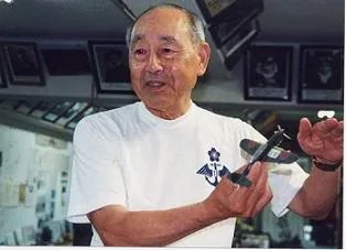 Kawano Kiichi in his kamikeze collection
