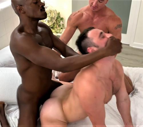 Rhyheim Shabazz with Michael Boston and Cade Maddox