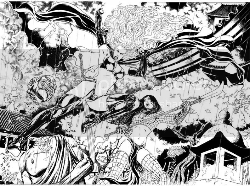 Lady Death vs Shi #1 - Pags. 08 & 09