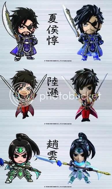 Dynasty Warriors 7 (DW7) Shin Sangokumusou 6 (SSM6) Mini Figure Set Volume 1