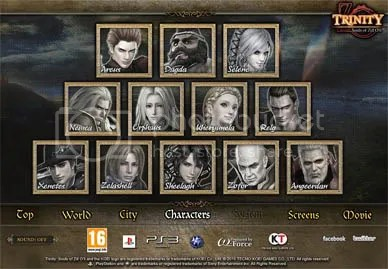 TRINITY: Souls of Zill O'll English Website / Official Site