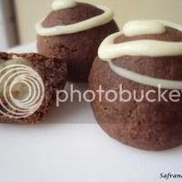 Chocolade marsepein koekjes