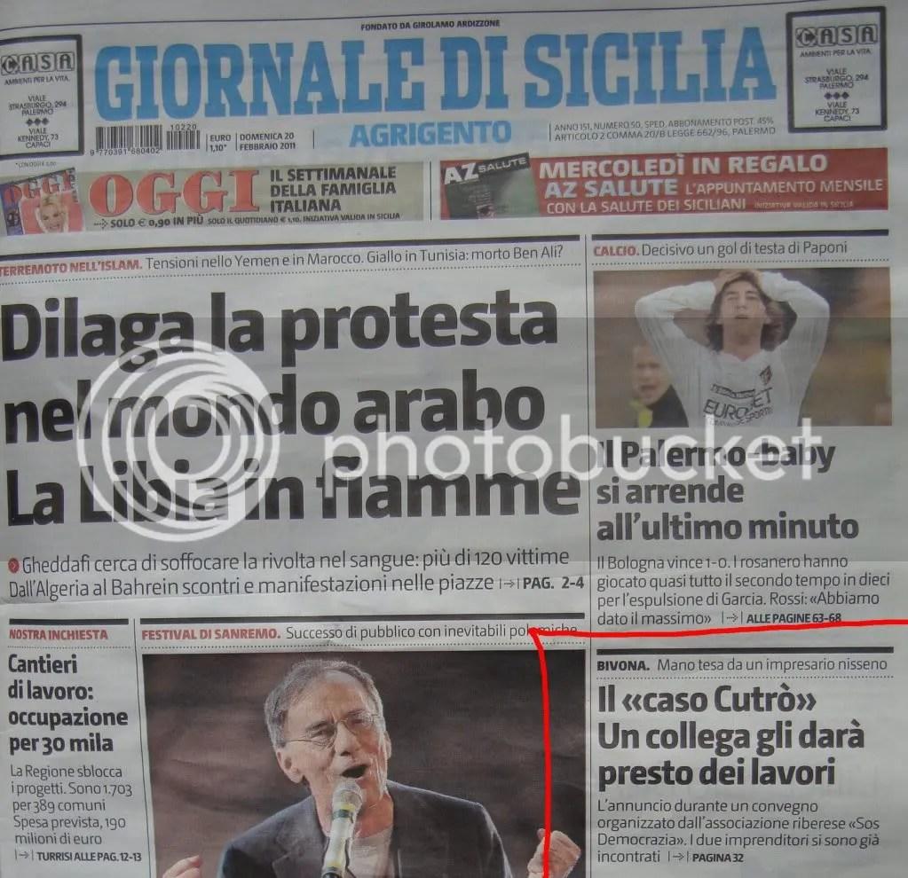 Ribera Social Forum Giornale di Sicilia prima pagina