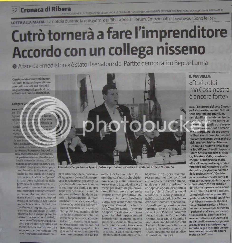 Ribera Social Forum Giornale di Sicilia