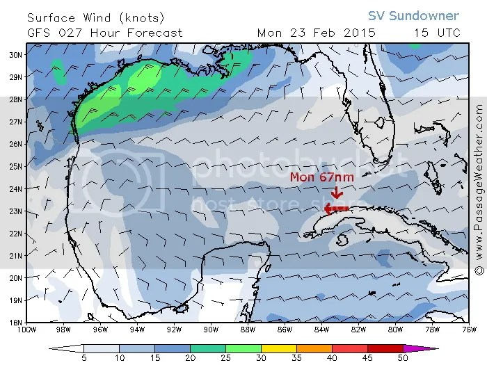 Mondays Wind map with route