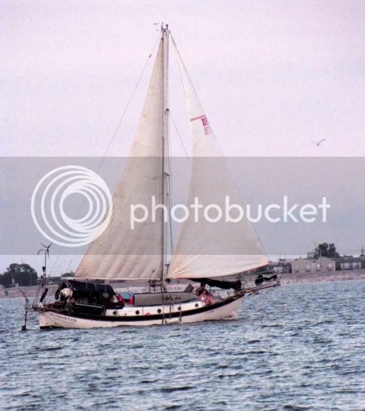 Sundowner under full sail