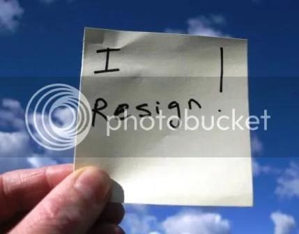 I resign