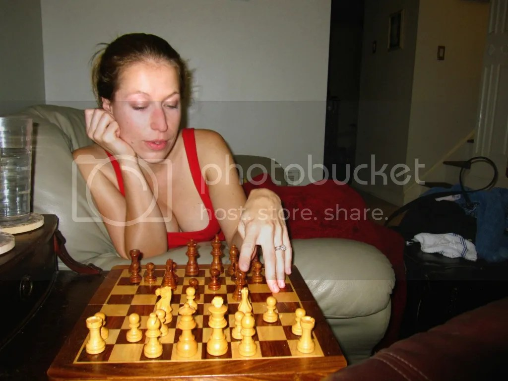 Dani playing chess
