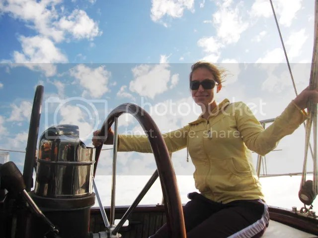 Dani sailing the north shore