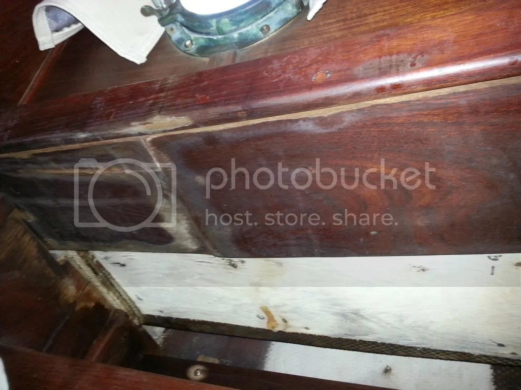 Starboard water damage