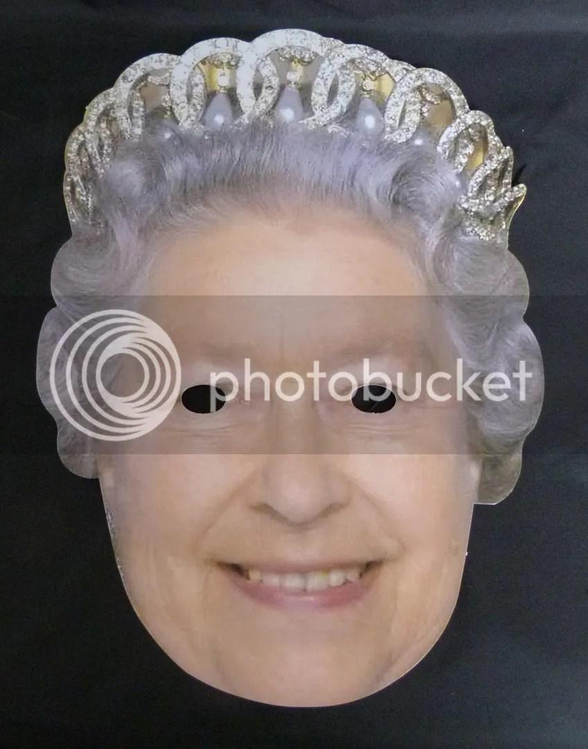 QUEEN ELIZABETH II FACE MASK DIAMOND JUBILEE CELEBRATION