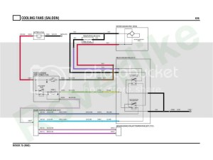 Rover 75MG ZT Two Speed Fan with Resistor wiring diagram