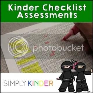 Checklist Assessments for Kindergarten