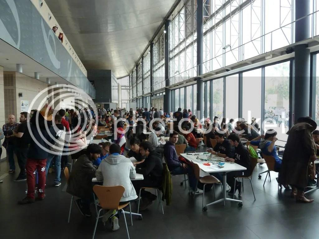 Juegos de mesa en el Salón del Manga de Alicante organizado por las Jornadas Lúdicas en el Reciento Ferial IFA