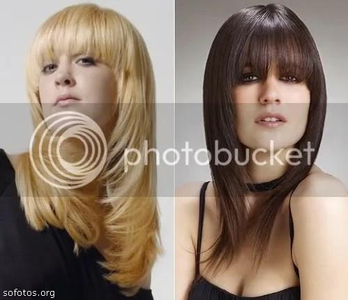 corte de cabelo com franja