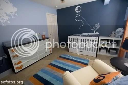 Quarto de bebe azul marinho