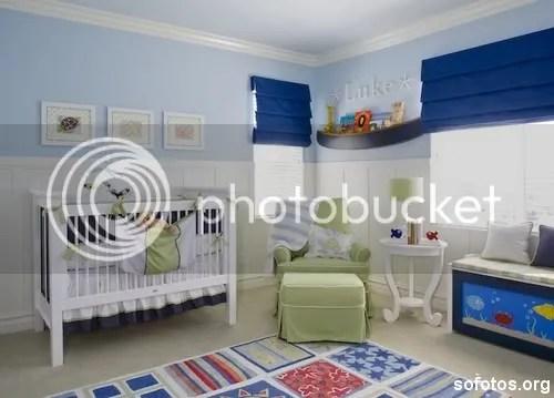Quarto de bebe masculino decorado azul