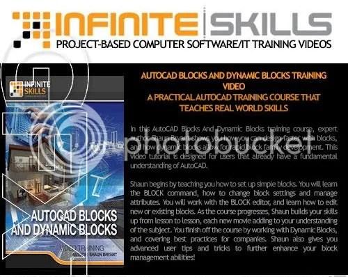 Infiniteskills - AutoCAD Blocks And Dynamic Blocks + Working Files