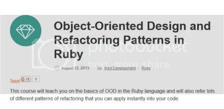 Tuts+ Premium - Object-Oriented Design and Refactoring Patterns in Ruby