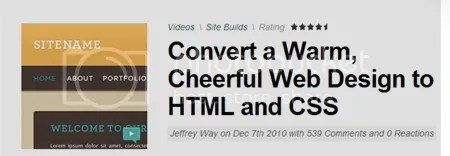 Tuts+ Premium - Convert a Warm, Cheerful Web Design to HTML and CSS