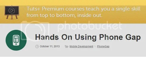 Tuts+ Premium - Hands On Using Phone Gap Training