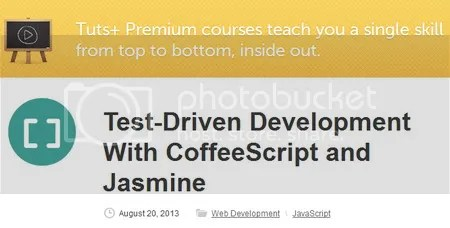 Tuts+ Premium - Test-Driven Development With CoffeeScript and Jasmine (2013)
